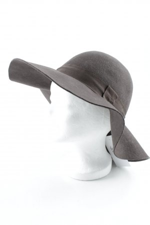 Gant Cappello a falde larghe marrone scuro stile classico