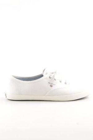 Gant Zeilschoenen wit gedrukte letters simpele stijl