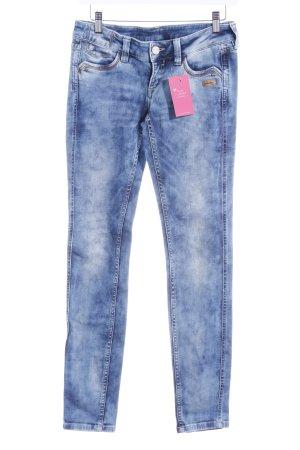 Gant Skinny Jeans stahlblau Used-Optik