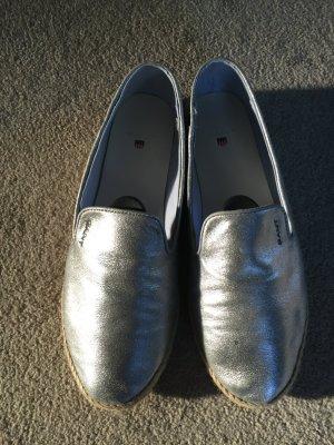 Gant Slipper in Silber Größe 38