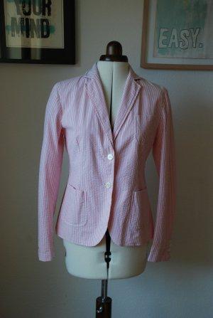 GANT Sommerblazer rosa-weiß Seersucker Gr. 38 NEU (NP 399€)