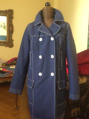 Gant Trenchcoat donkerblauw Gemengd weefsel