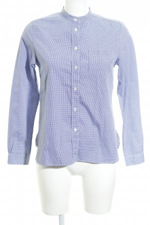 Gant Stand-Up Collar Blouse blue-white check pattern casual look
