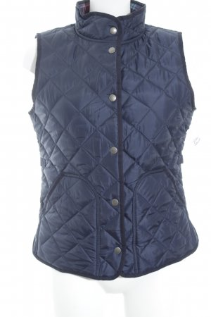 Gant Quilted Gilet blue quilting pattern simple style