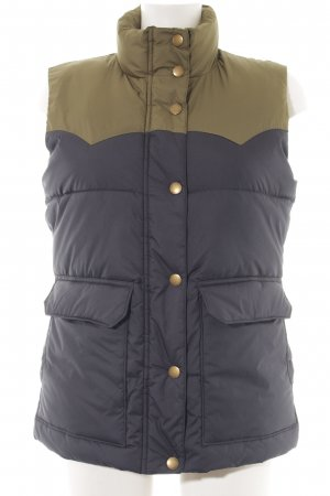 Gant Quilted Gilet grass green-dark grey quilting pattern athletic style