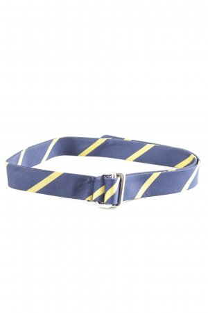 Gant Cintura in tessuto blu-giallo pallido motivo a righe stile casual