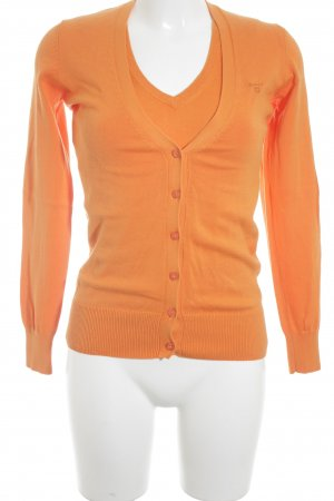Gant Ensemble en tricot orange style décontracté