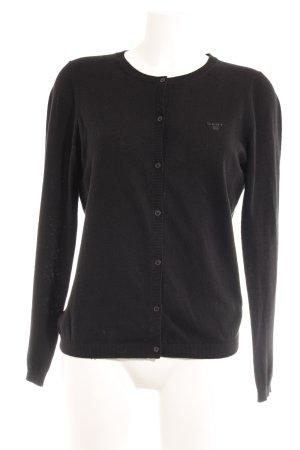 Gant Veste en tricot noir style anglais