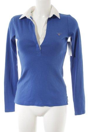 Gant Strickpullover blau-weiß klassischer Stil