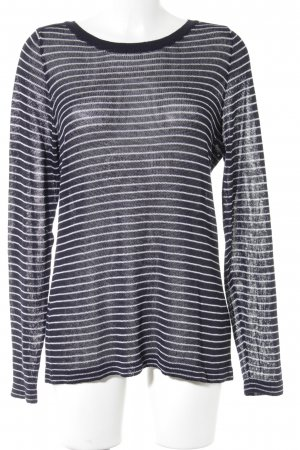 Gant Knitted Sweater white-dark blue striped pattern casual look
