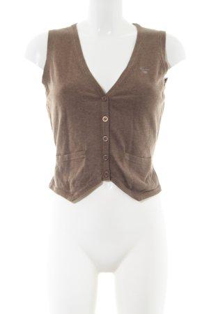 Gant Strickweste bronzefarben meliert Business-Look