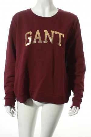 Gant Sweatshirt bordeauxrot Street-Fashion-Look