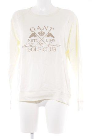 Gant Suéter beige claro estampado temático look casual