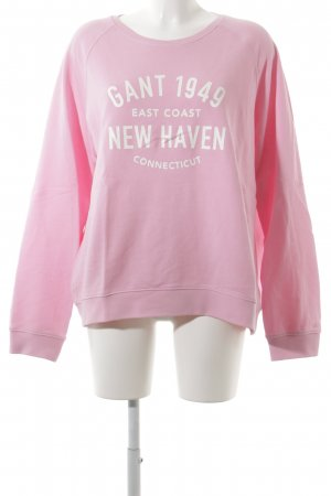 Gant Sweat Shirt pink-white printed lettering college style