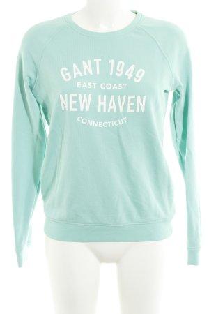 Gant Sweatshirt türkis-weiß Street-Fashion-Look