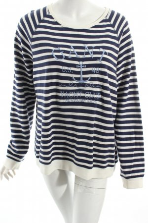 Gant Sweatshirt weiß-dunkelblau Streifenmuster Marine-Look