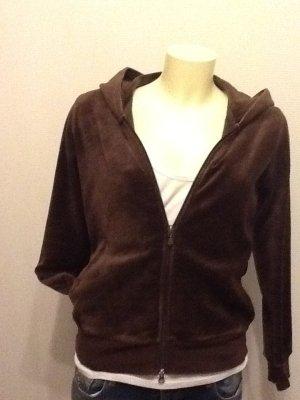 Gant Sweatshirtjacke in Dunkelbraun, Größe M