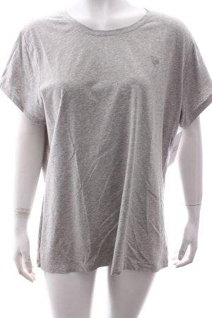Gant T-Shirt hellgrau meliert klassischer Stil