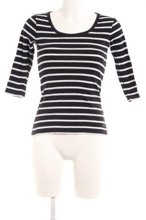 Gant T-Shirt weiß-dunkelblau Streifenmuster Casual-Look