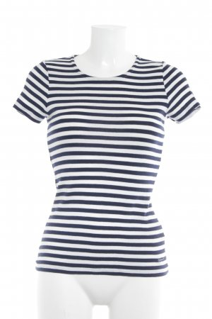 Gant T-Shirt wollweiß-dunkelblau Streifenmuster Casual-Look