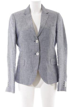 Gant Tweed blazer lichtgrijs-donkerblauw visgraatmotief klassieke stijl