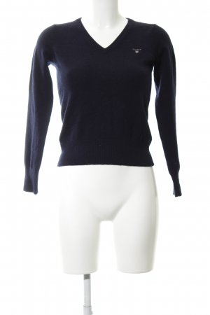 Gant V-Ausschnitt-Pullover blau Casual-Look