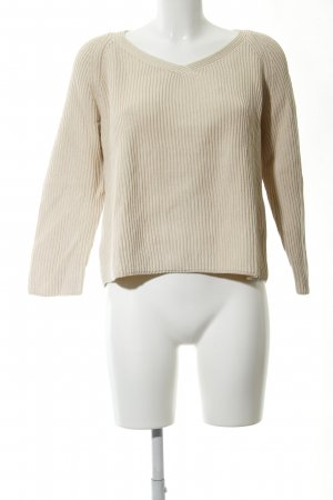 Gant V-Ausschnitt-Pullover wollweiß Casual-Look