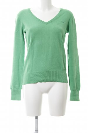 Gant V-Ausschnitt-Pullover grün Casual-Look