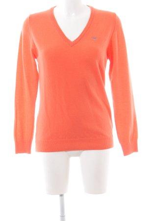 Gant V-Ausschnitt-Pullover hellorange Casual-Look