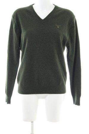 Gant V-Ausschnitt-Pullover khaki Casual-Look