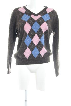 Gant V-Ausschnitt-Pullover braun Brit-Look