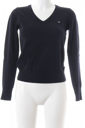 Gant V-Ausschnitt-Pullover dunkelblau Casual-Look