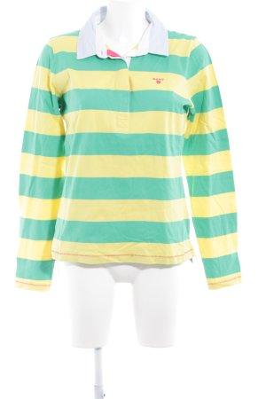 Gant V-Neck Sweater yellow-green striped pattern extravagant style