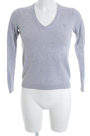 Gant V-Ausschnitt-Pullover hellgrau Casual-Look