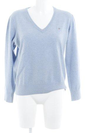 Gant V-Ausschnitt-Pullover himmelblau klassischer Stil