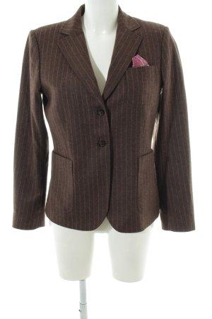 Gant Woll-Blazer bronzefarben Streifenmuster Business-Look