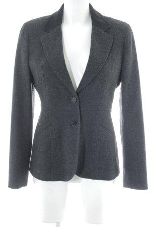 Gant Blazer in lana antracite-nero puntinato stile professionale