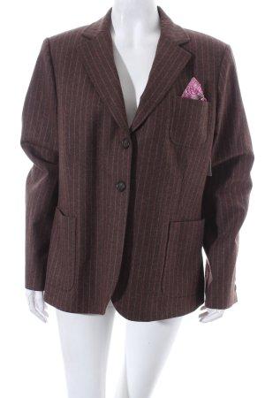 Gant Woll-Blazer dunkelbraun-pink Nadelstreifen klassischer Stil