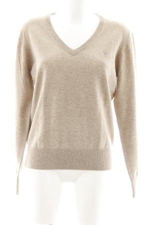 Gant Pull en laine beige style décontracté