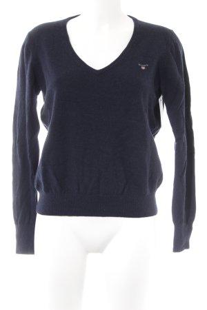 Gant Jersey de lana azul oscuro look casual