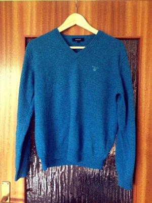 GANT Wollpullover Lammwolle blau türkis XS/S