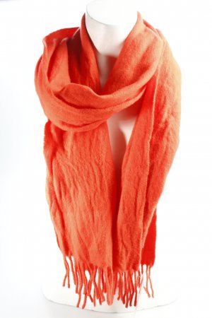 Gant Woolen Scarf bright red-salmon classic style