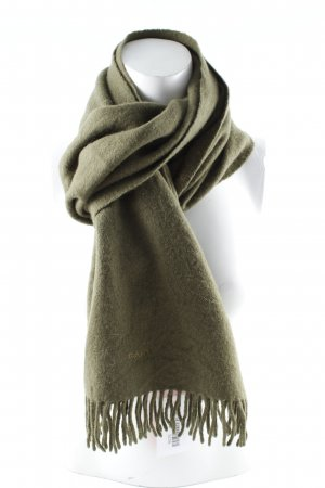 Gant Wollschal olivgrün Casual-Look