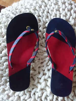 Gant High-Heeled Toe-Post Sandals dark red-dark blue