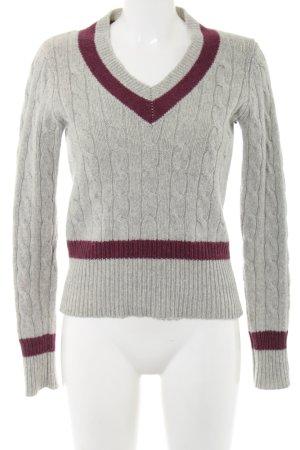 Gant Jersey trenzado gris claro-rojo punto trenzado look casual