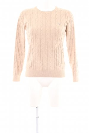Gant Cable Sweater cream cable stitch casual look