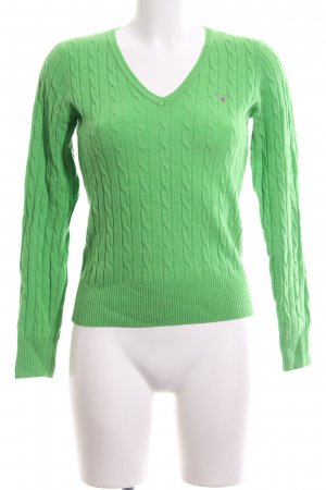 Gant Cable Sweater green cable stitch casual look