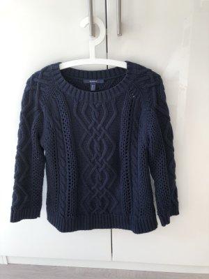 Gant Jersey trenzado azul oscuro