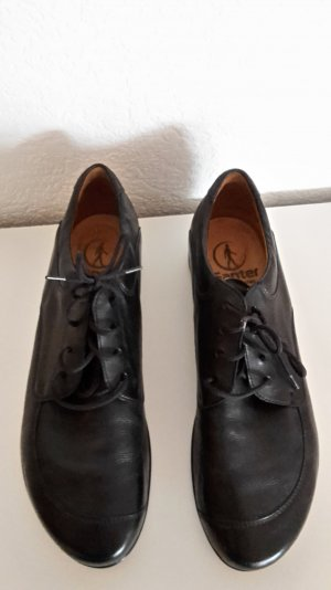 Ganter Damenschuh, Halbschuh, schwarz, Leder, Gr. 39,5 (39), 1x getragen, wie neu!!
