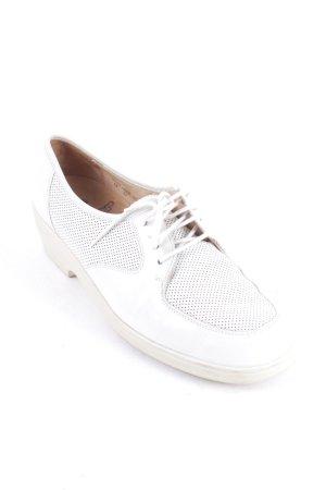 Ganter Schnürschuhe weiß klassischer Stil